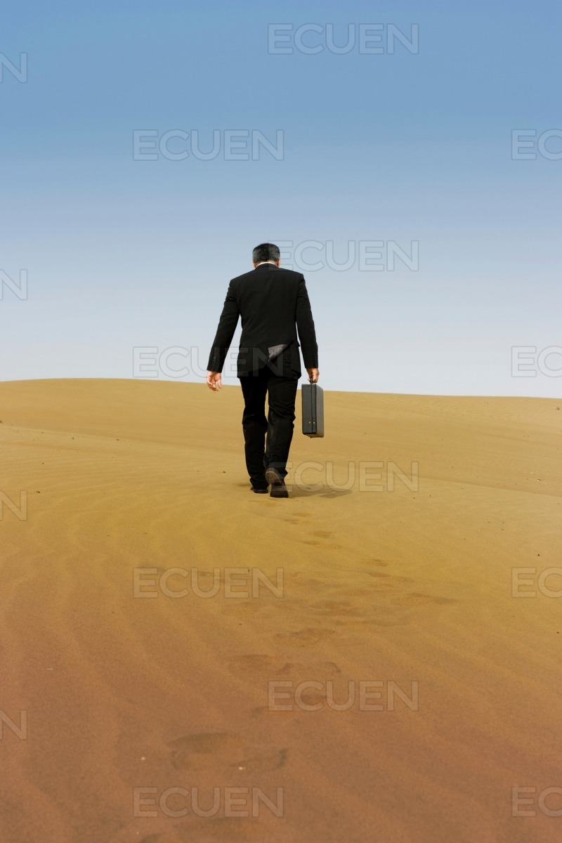A business man with a briefcase stock photo