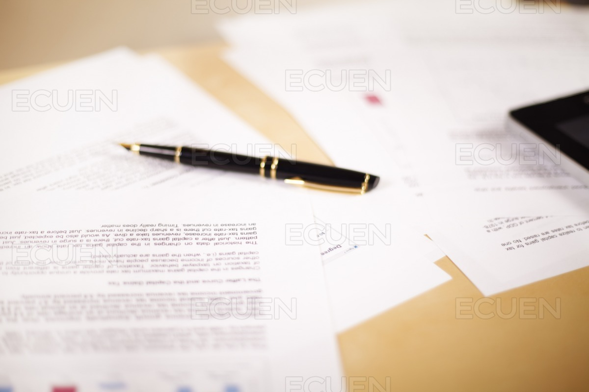 Background of business documents stock photo