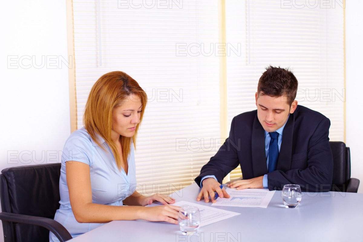 Business people working stock photo