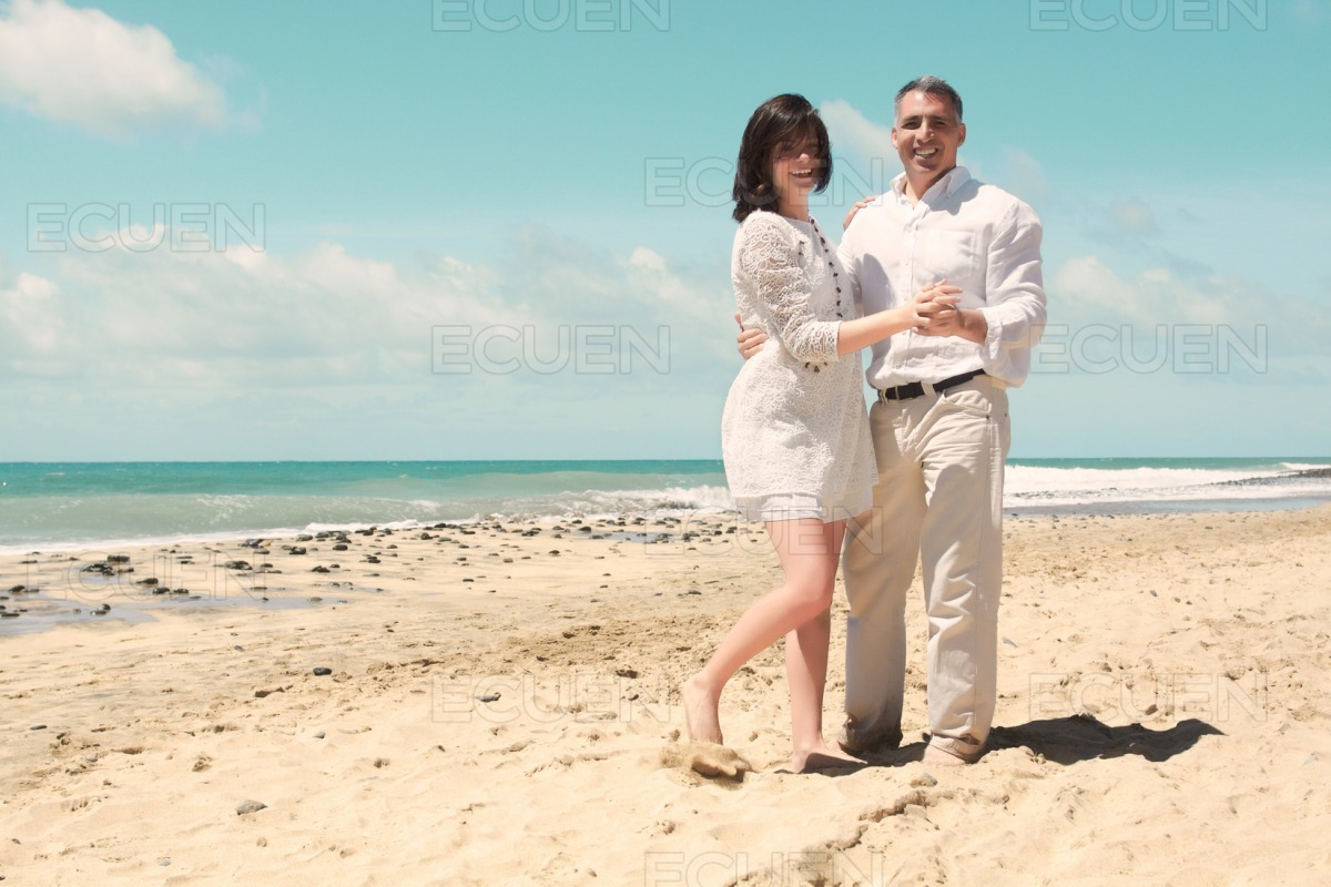 Couple in dancing position stock photo
