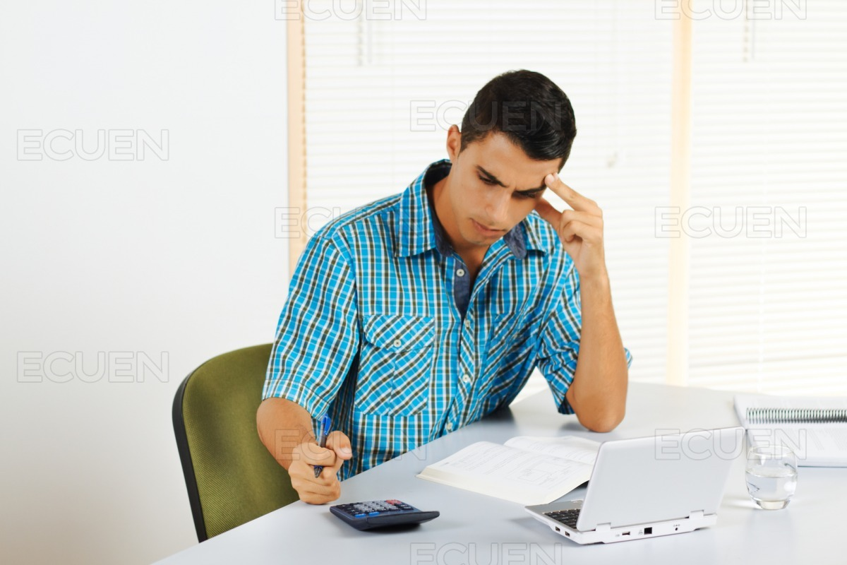 Frustrated young man stock photo