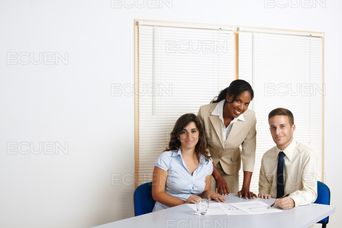 Group of young business people stock photo