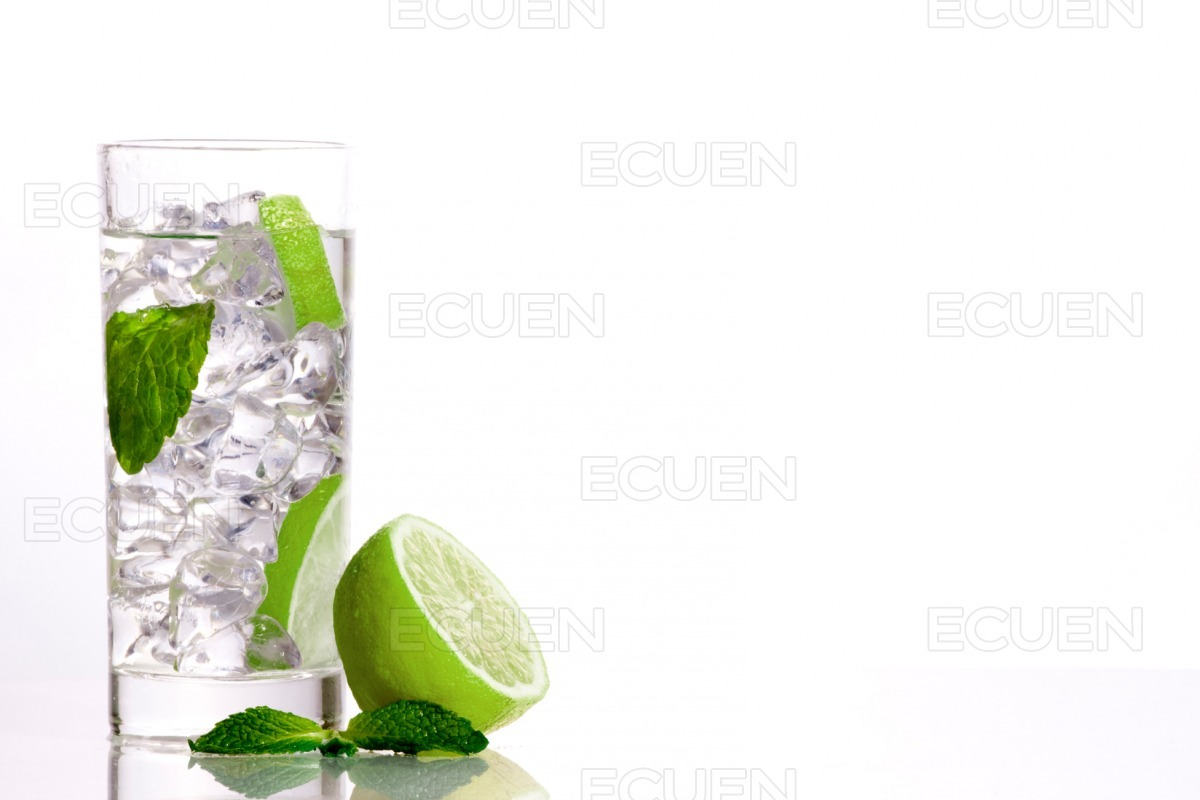 Mojito drink on isolated background stock photo