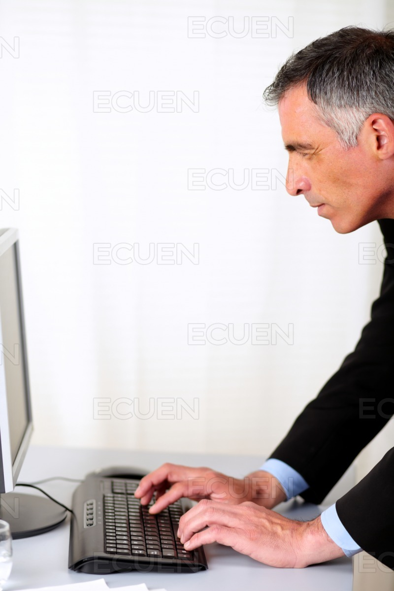 Professional person working stock photo