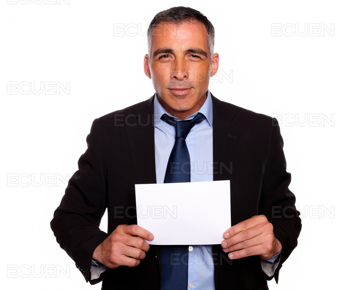 Successful manager looking to you stock photo