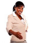 Smiling businesswoman with extended right hand