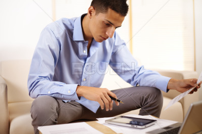 Businessman using a Tablet PC