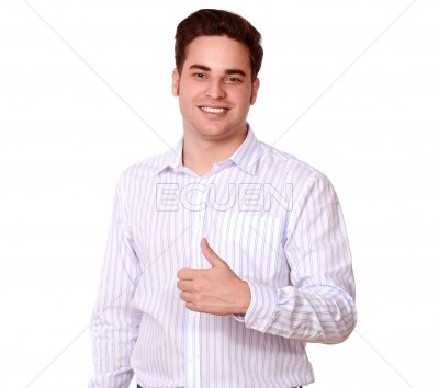 Charismatic adult person with ok sign