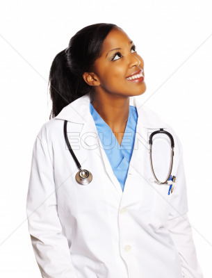 Doctor black woman