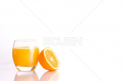 Fresh orange juice on isolated background