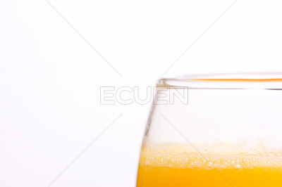 Macro of a resh orange juice on isolated background