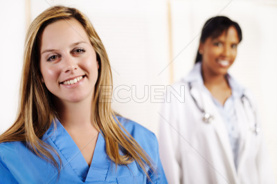 Nurse with one of his co-workers