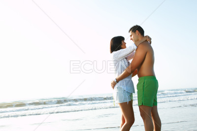 Oving couple embracing each other