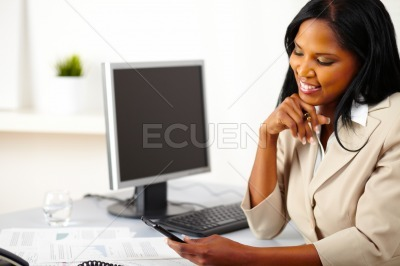 Professional woman using a mobile phone