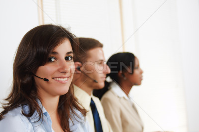 Woman telephone operator