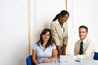 Working group of business people