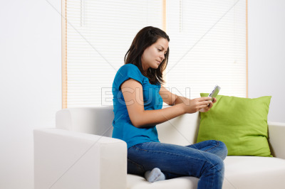 Young woman using a tablet PC