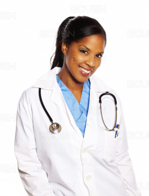 Doctor black woman stock photo