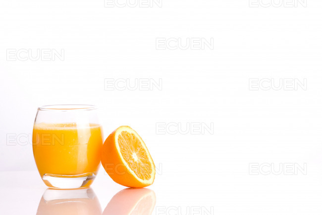 Fresh orange juice on isolated background stock photo