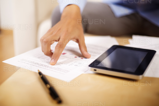 Hand of a young businessman stock photo