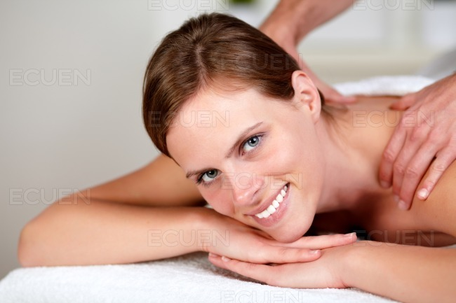 Lovely pretty girl smiling and relaxing stock photo