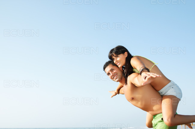 Ouple fooling around stock photo