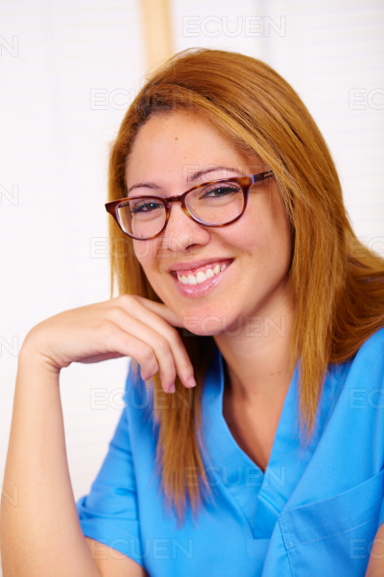 Portrait of a young nurse stock photo