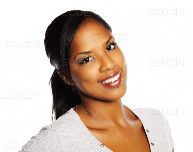 Pretty black woman stock photo