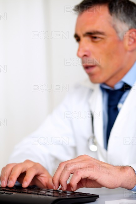 Professional medical specialist working stock photo
