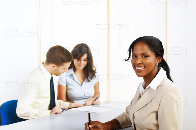 Young black businesswoman stock photo