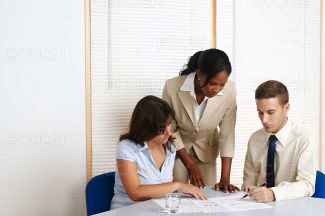 Young business people working stock photo