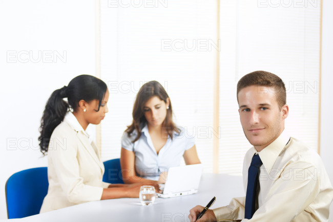 Young Caucasian businessman stock photo