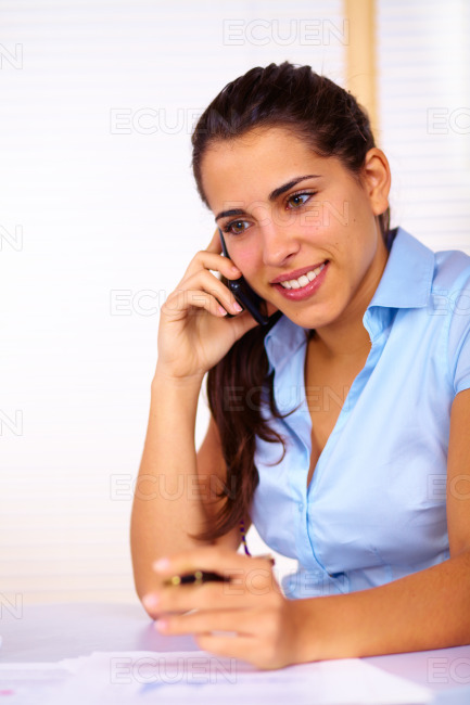 Young woman working stock photo