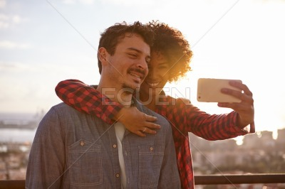 Loving young couple sharing a moment