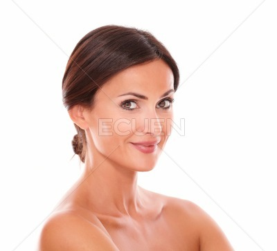 Sexy latin woman smiling at camera