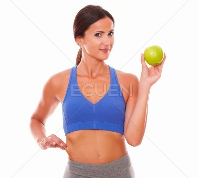 Sporty young woman trying to lose weight
