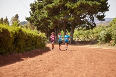Three runners in an even race