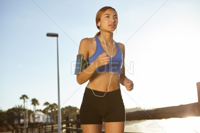 Young jogger living a healthy lifestyle