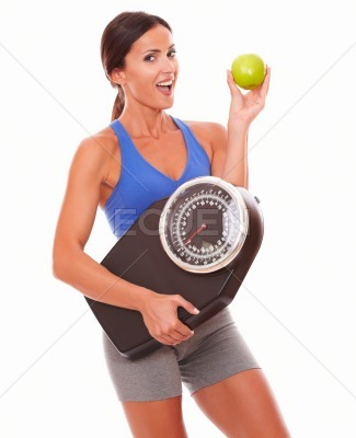 Young lady on diet having positive attitude