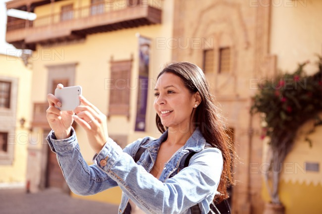 Pretty young girl with long hair stock photo