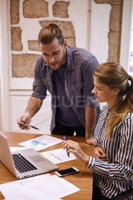 Business man meets with business woman