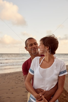 Couple enjoying a day on beach