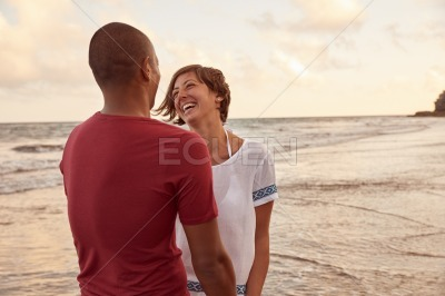 Loving couple laughing with such joy