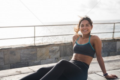 A gorgeous young woman in active wear
