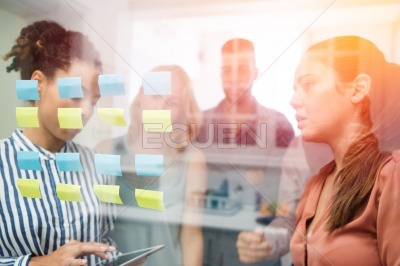 Business team holding a meeting in an office