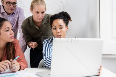 Business team having a meeting in an office