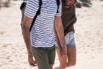 Torso shot of a young couple on a beach
